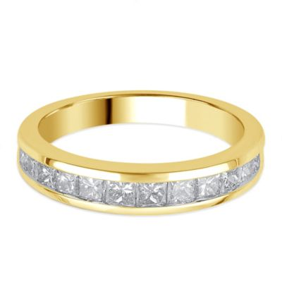 14K Gold 1.0 cttw Princess-Cut Diamond Size 5 Ladies' Channel-Set Wedding Band
