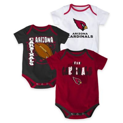 "NFL Arizona Cardinals ""3 Point Spread"" Size 0-3M Bodysuit Set (Set of 3)"