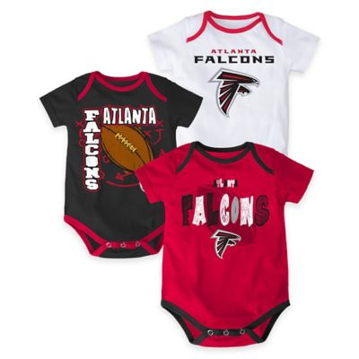 "NFL Atlanta Falcons ""3 Point Spread"" Size 0-3M Bodysuit Set (Set of 3)"