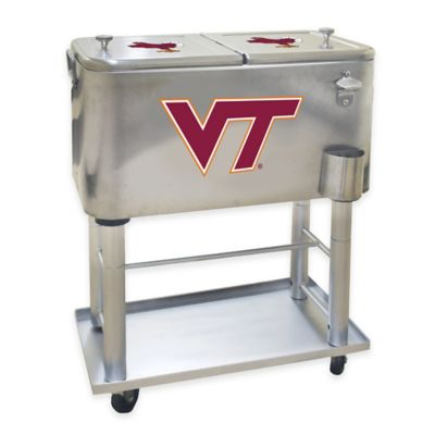 NCAA Virginia Tech 60 qt. Stainless Steel Cooler