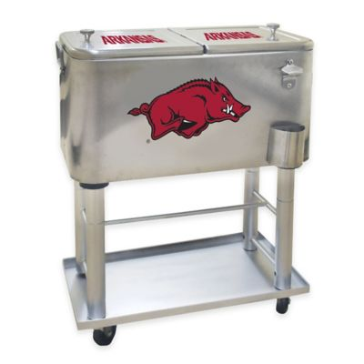 NCAA University of Arkansas 60 qt. Stainless Steel Cooler