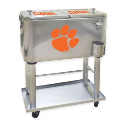 NCAA Clemson University 60 qt. Stainless Steel Cooler
