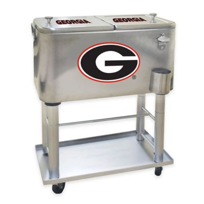 NCAA University of Georgia 60 qt. Stainless Steel Cooler