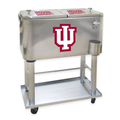 NCAA Indiana University 60 qt. Stainless Steel Cooler