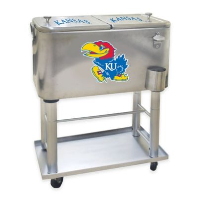 NCAA University of Kansas 60 qt. Stainless Steel Cooler