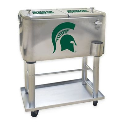 NCAA Michigan State University 60 qt. Stainless Steel Cooler