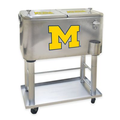 NCAA University of Michigan 60 qt. Stainless Steel Cooler