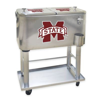 NCAA Mississippi State University 60 qt. Stainless Steel Cooler