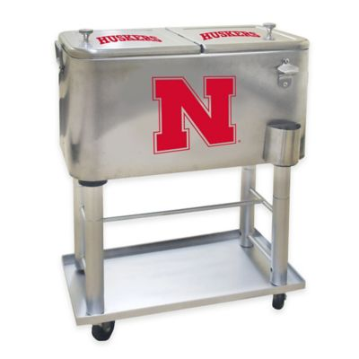 NCAA University of Nebraska 60 qt. Stainless Steel Cooler