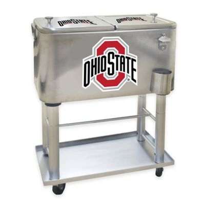 NCAA Ohio State University 60 qt. Stainless Steel Cooler