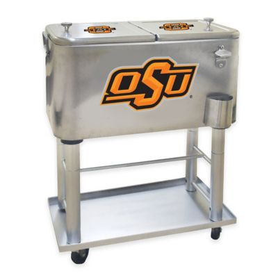 NCAA Oklahoma State University 60 qt. Stainless Steel Cooler