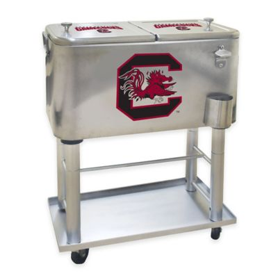 NCAA University of South Carolina 60 qt. Stainless Steel Cooler