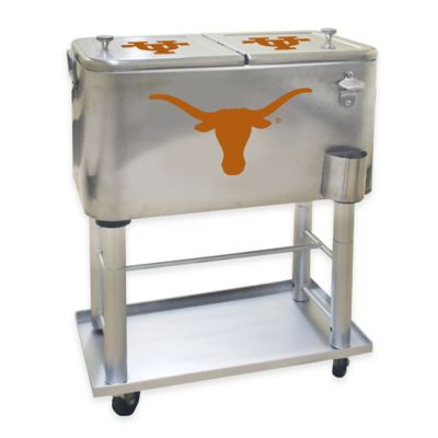 NCAA NUniversity of Texas 60 qt. Stainless Steel Cooler