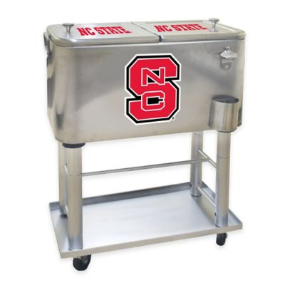 NCAA North Carolina State 60 qt. Stainless Steel Cooler