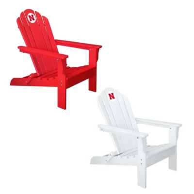 University of Nebraska Adirondack Chair in White