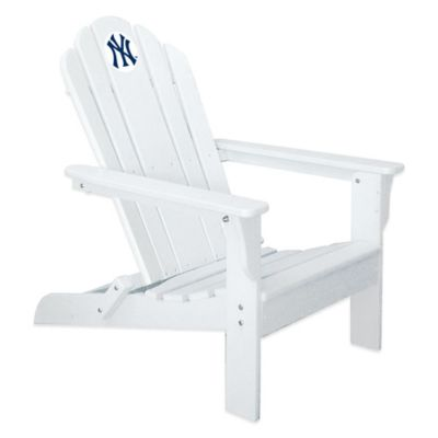 MLB New York Yankees Adirondack Chair in White