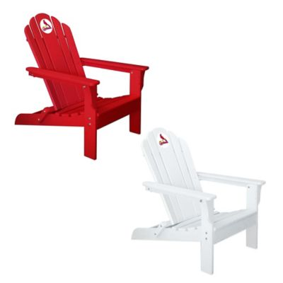 MLB St. Louis Cardinals Adirondack Chair in White
