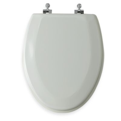 Mayfair® Round Bone Molded Wood Toilet Seat with Easy-Clean & Change™ Chrome Hinge
