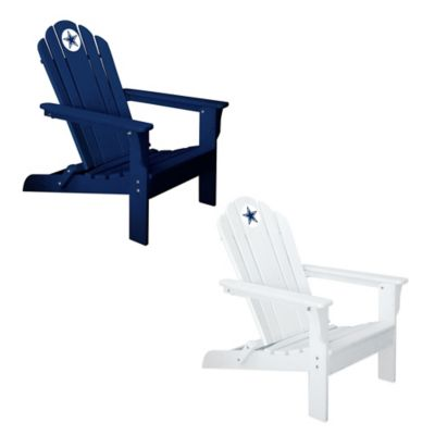 NFL Dallas Cowboys Adirondack Chair in White