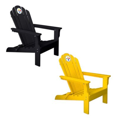NFL Pittsburgh Steelers Adirondack Chair in Black
