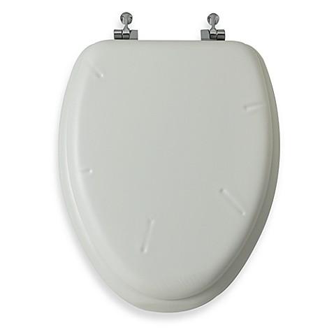 Mayfair 174 White Elongated Cushioned Vinyl Soft Toilet Seat