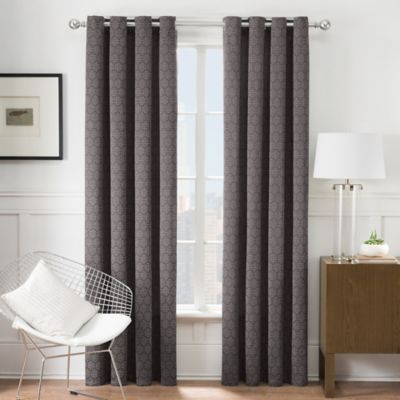 Times Square® 84-Inch Grommet Window Curtain Panel in Charcoal