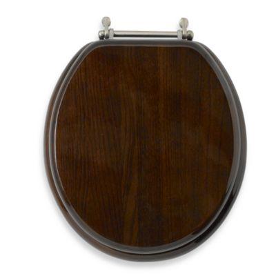 Dark Brown Wood Toilet Seat