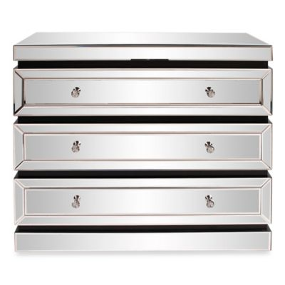 Howard Elliott® 3-Tier Mirrored Dresser with Drawers