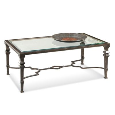 Bassett Mirror Company Lido Rectangle Cocktail Table in Bronze