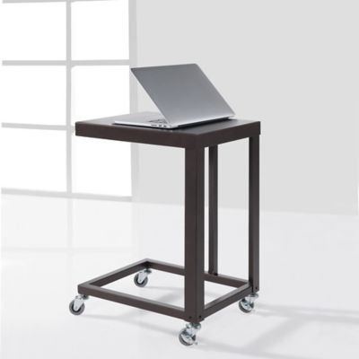 "Durable Flat Metal ""C"" Table in Bronze"