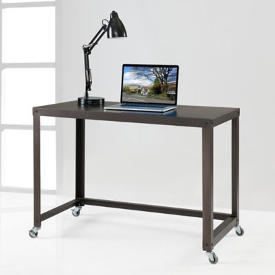 Durable Flat Metal Desk in Bronze