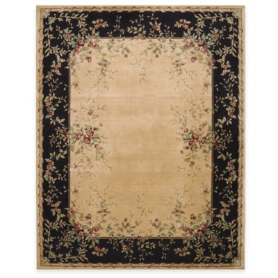 Nourison Chambord 3-Foot 6-Inch x 5-Foot 6-Inch Room Size Rug in Black/Beige