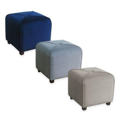 Velvet Cube Ottoman Furniture