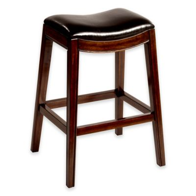 Kenton Wood 30-Inch Backless Barstool in Espresso