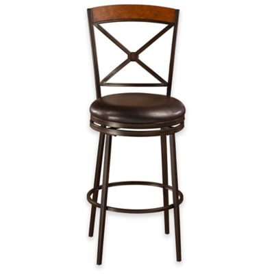 Colton Swivel Counter Stool in Brown