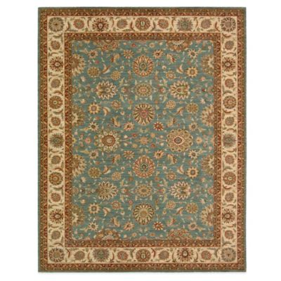 Aqua Living Treasures 5-foot 6-Inch x 8-Foot 3-Inch Room Size Rug