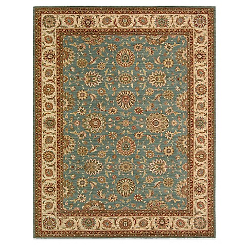 living treasures room size rug in aqua living treasures rugs are made