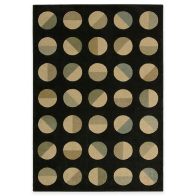 Black Loft Room Size Rug