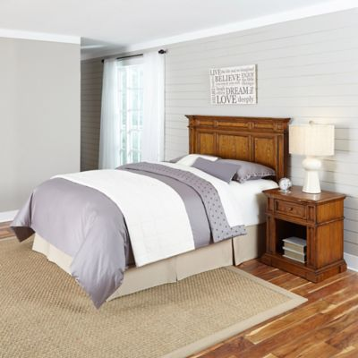 White Headboard and Nightstands Set