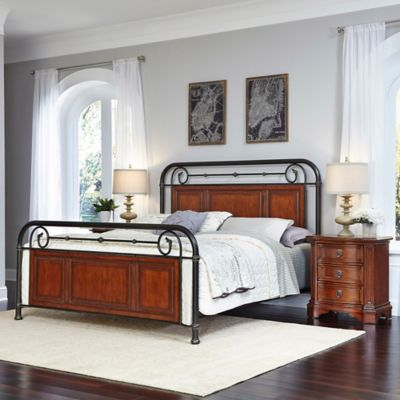 Home Styles Richmond Hill 3-Piece Queen Bed and Nightstands Set in Cognac