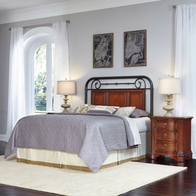 Home Styles Richmond Hill 3-Piece Queen/Full Headboard and Nightstands Set in Cognac