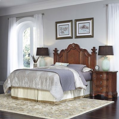 Home Styles Santiago 3-Piece King/California Headboard and Nightstands Set in Cognac