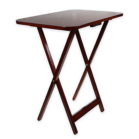 Miseo Oversize Tray Table In Walnut Bed Bath Amp Beyond