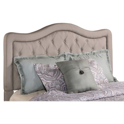 Hillsdale Trieste Queen Headboard with Rails in Dove Grey