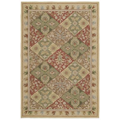 Kaleen Home & Porch Desoto 5-Foot 9-Inch Round Indoor/Outdoor Rug in Linen