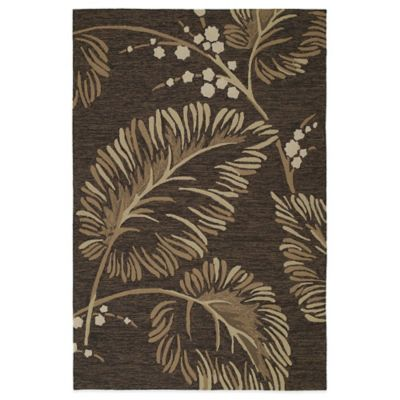 Kaleen Home & Porch Palmyra 7-Foot 9-Inch Round Indoor/Outdoor Rug in Chocolate