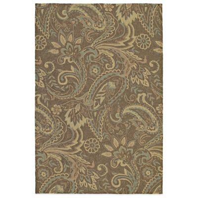 Kaleen Home & Porch River's End Round Indoor/Outdoor Rug in Mocha