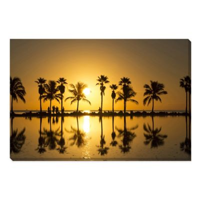 Sunrise in Miami Medium Photographed Canvas Art