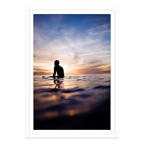 buy a lone surfer in the sunset extra large photographed. Black Bedroom Furniture Sets. Home Design Ideas