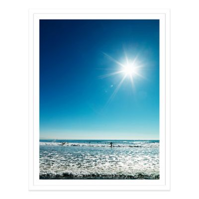 Beach Beneath a Blue Sky USA Medium Photographed Framed Print Wall Art
